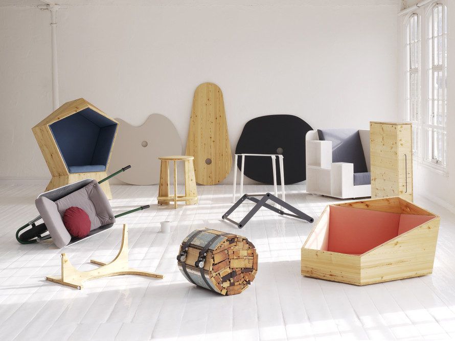studio tilt, furnitr, furnitre design, studio tilt furniture, leafdesk, fruit & nut, fruit&nut table, fruit&nut, festival chair, quiet chair, call, suitcase desk, firewood, openbook chair, openbook, codesign, london furniture design