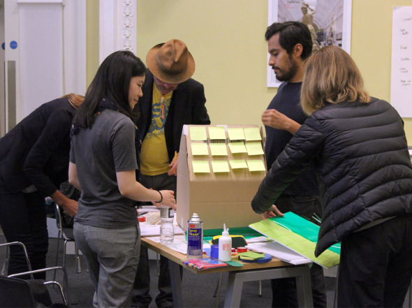 cardboard, prototyping, codesign workshop, community led design, cardboard prototype, collaborative design, user centered design, people centered design, prototype, London design festival, innovation, london housing crisis, london housing, collaborative design, housing design, codesign workshop, victoria and albert museum, v&a museum, studio TILT, Dan Jones, Finn Williams, London