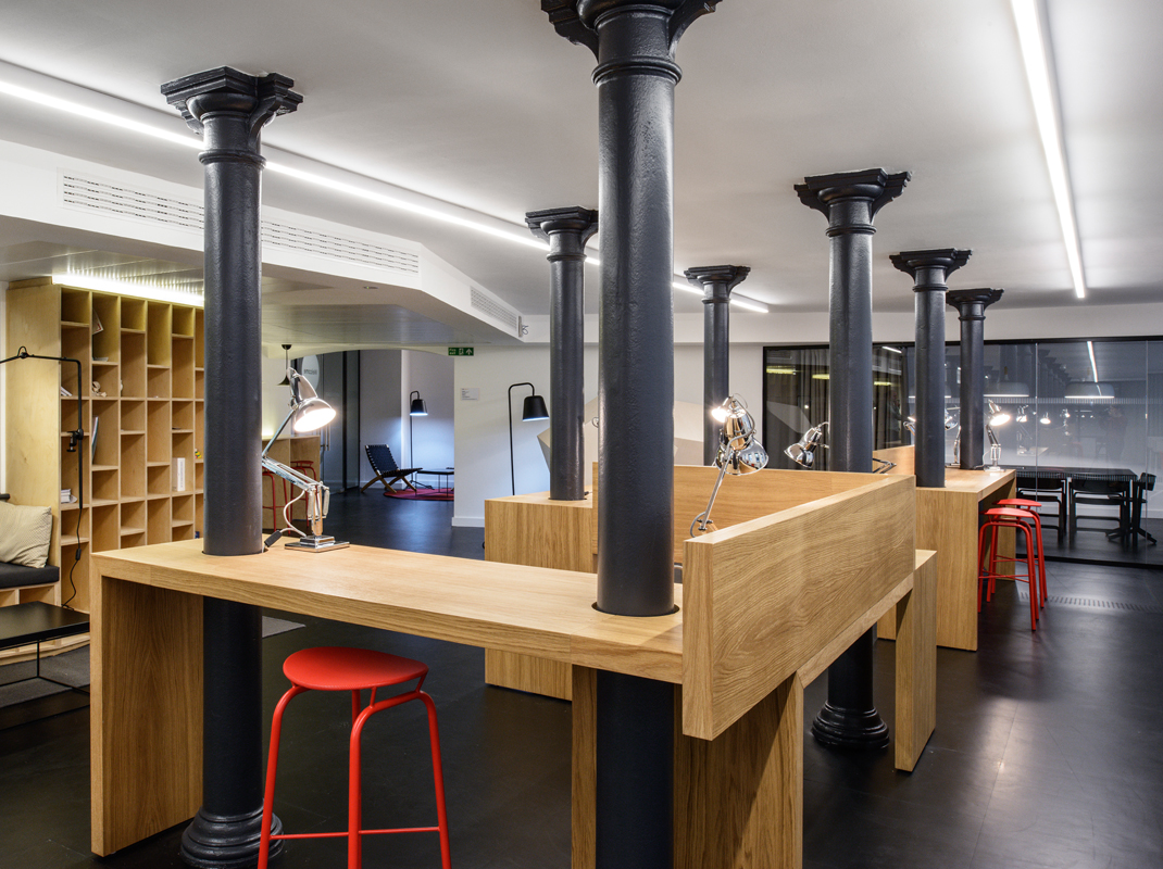 Club Chancery Lane, coworking, coworking space, coworking space design, london architecture, studio tilt, london coworking space, london coworking architecture